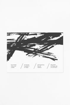 Invitation Template Featuring Bold Black Brush Strokes And Modern Type Print Your Own DIY Invitations From Home With This Easy To Use