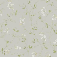 Sanna Light Grey by Sandberg - Airy, fragrant sweet peas that trail their way up the wall. A wonderful, light wallpaper, perfect for a romantic bedroom, where summer lasts all year long. Interior Wallpaper, Lit Wallpaper, Fabric Wallpaper, Best Outdoor Lighting, Dining Lighting, Vintage Floral Wallpapers, Inspirational Wallpapers, High Quality Wallpapers, Rose Cottage