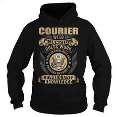 Courier Job Title V1 - #long sleeve t shirts #hoody. GET YOURS => https://www.sunfrog.com/Jobs/Courier-Job-Title-V1-Black-Hoodie.html?id=60505
