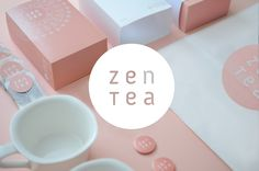 Zen Tea  Packaging and branding      Tea embodies peace and harmony. After removing the minimalist part of the package (a metaphor for peace), we find a clear pattern on the packaging (a metaphor for harmony). The Pattern design consists of a doily, leaves and jasmine blossoms. It is a call to nature.    by Konrad Sybilski  Warsaw, Poland    via Behance