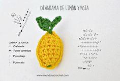 Diagrama de limón de crochet