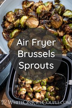 Our Brussels Sprouts recipe in the Air Fryer is absolutely amazing. It's a delicious veggie side dish. Fun Easy Recipes, Healthy Recipes, Keto Recipes, Air Fried Vegetable Recipes, Veggie Side Dishes, Vegetable Sides, Crispy French Fries, Baked Fish Fillet, Healthy Meal Prep