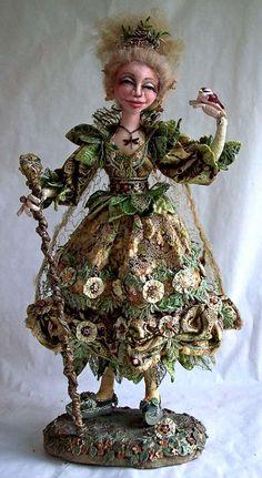 Cloth & Fiber Art Dolls Created by Stephanie Novatski