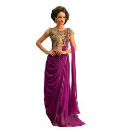 Aramani Fashion Purple Net Gowns