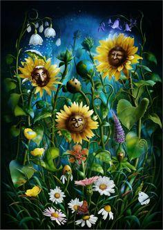 SciFi and Fantasy Art Flower Power by J E. Shannon