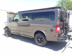 Nissan NV 3500, Advanced Four Wheel Drive 4x4 system, Aluminess rack and bumpers. Advanced Four Wheel Steps and Ladder