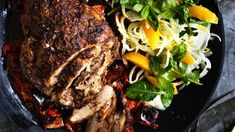 Serving suggestion: Neil Perry's Moroccan-style lamb roast with a simple orange and fennel salad. Just add couscous. Garlic Recipes, Lamb Recipes, Meat Recipes, Pasta Recipes, Mexican Food Recipes, Cooking Recipes, Online Recipes, Slow Cooking, Recipes Dinner