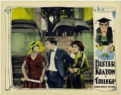 College (1927) - Buster Keaton, Flora Bramley & Anne Cornwall