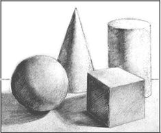 Composition Drawing, Shading Drawing, Basic Drawing, Drawing Lessons, Drawing Techniques, Geometric Shapes Drawing, Geometric Art, Art Drawings For Kids, Art Drawings Sketches