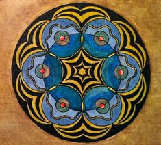 mandala by Miss X, one of C.G. Jung's patients