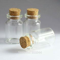 Ideal pcs ml Mason Jar Glass Bottles Vials Jars With Cork Stopper Decorative Corked Tiny Mini Liquid