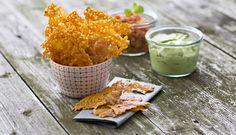 ¡Prueba estos deliciosos y crujientes chips de queso Cheddar! La receta es facilísima : D