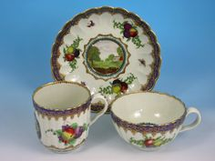 First Period Worcester  Lord Henry Thynne Pattern Trio