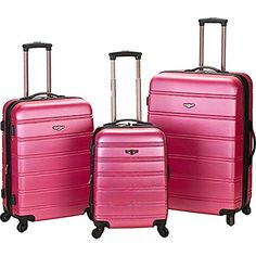 Luggage Sets Collections | The Set of Classic Rockland Melbourne Hardside 3 Piece Luggage -- See this great product.(It is Amazon affiliate link) #like4like