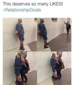 I hope this is a really nice older couple. not some cheating grandpa with his no-grandkids, free spirited, mostly healthy, independent girlfriend that his wife doesn't know about. Cute Stories, Sweet Stories, Cute Relationship Goals, Cute Relationships, Cute Couples Goals, Couple Goals, Funny Cute, Hilarious, Thoughts