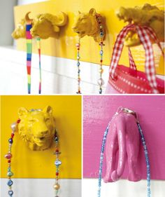 toy plastic animal coat rack