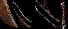 elven bastard sword concept art - Google Search
