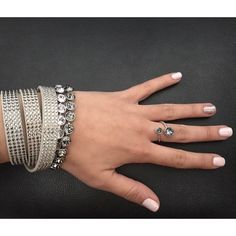 1fe63b9cd Ice Bracelets, Tri-Wrap Bracelet, and the Curled Up Ring from Touchstone  Crystal by Swarovski!