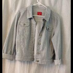 Stripe Elle denim jacket New without tags Jackets & Coats Jean Jackets