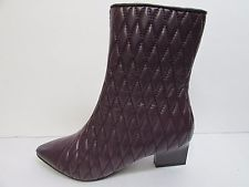 Adrianna Papell Size 8 Purple Leather Ankle Boots New Womens Shoes