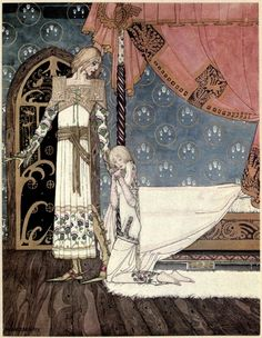 Kay Nielsen's Stunning 1914 Illustrations of Scandinavian Fairy Tales - East of the Sun and West of the Moon: Old Tales from the North - 'Tell me the Way, she said, And I'll Search You Out' | Brain Pickings