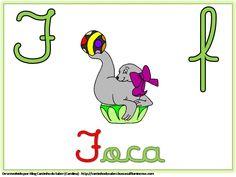Alfabeto Colorido com Letra Cursiva para Imprimir F