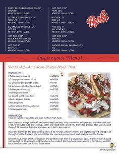 Berks All-American Cheese Steak Dog Recipe!