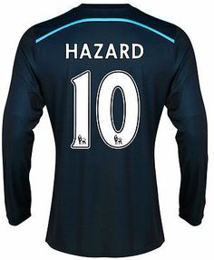 ADIDAS HAZARD CHELSEA FC LS THIRD JERSEY 2014/15 BARCLAYS ENGLISH PREMIER LEAGUE