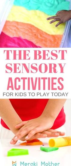 A list with the best sensory activities for kids to play today. sensory activities | sensory activities toddlers | sensory activities for babies | sensory activities for autism | sensory activities for preschoolers | Sensory activities | Sensory Activities for Kids