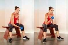 3. Concentration Biceps Curls
