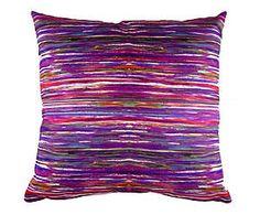 Cuscino arredo in misto cotone Stripes viola - 43x43 cm