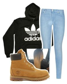 Untitled #451 by carlasaenz on Polyvore featuring polyvore fashion style adidas 7 For All Mankind Timberland clothing