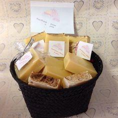 Frangipani Scented cold process soap.