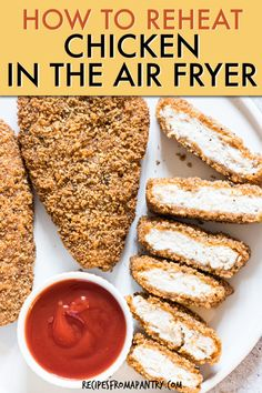 It's so easy to reheat fried chicken in the air fryer. Enjoy fried chicken leftovers that are just as good as they were the first time without heating your oven. No soggy microwaved chicken here! This shows you how long to reheat chicken in air fryer such as KFC chicken leftovers, homemade or other chicken takeaway. Click through to get this awesome How To Reheat Chicken in the Air Fryer recipe. #friedchicken #airfryer #reheatchicken #airfried #chicken Air Fryer Recipes Vegan, Air Fryer Dinner Recipes, Air Fryer Healthy, Appetizer Recipes, Snack Recipes, Over Fried Chicken, Cooking Fried Chicken