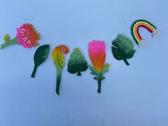 Excited to share this item from my #etsy shop: Tropical botanical felt garland, unique handmade felt bunting, botanical wall decor Felt Bunting, Felt Garland, Protea Flower, Rainbow Decorations, Tropical Colors, Rainbow Wall, Handmade Felt, Wet Felting, Nursery Themes
