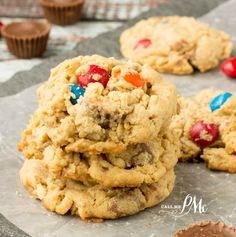 Soft Peanut Butter Oatmeal Cookie Recipe are full of peanut butter, oats, M&Ms and Reese's peanut butter cups. Yes, it's chocolate, chocolate and more chocolate!