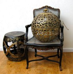 brass karakusa chandelier from emily henderson LA shopping