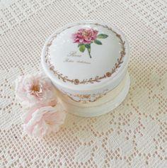 Redoute's Roses RHS Queens China Dresser Box  by RosebudsOriginals, $19.95