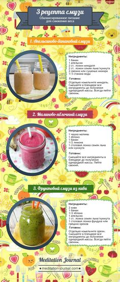 Смузи для похудения Healthy Drinks, Yummy Drinks, Healthy Eating, Smoothie Recipes, Protein Shake Recipes, Smoothie Drinks, Smoothies, Food Photo, Vegan Recipes