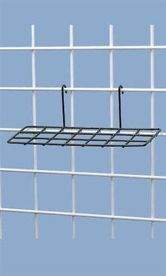 Black Wire Gridwall Shoe Shelves