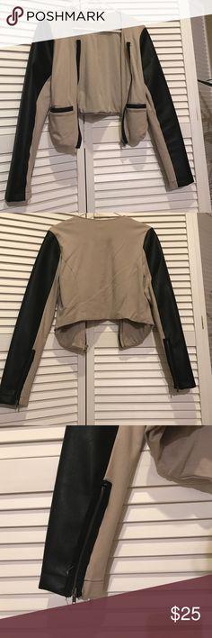 Bcbg jacket Lola jacket with leather sleeves and detailing. lola Jackets & Coats Blazers