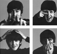 1964, A Hard Day's Night photo shoot.