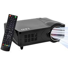 [$206.00] 2200 Lumens 800 x 600P HD 5.0 inch LCD Panel LED Multimedia Projector with Remote Control, Support HDMI / VGA / AV / USB / SD Card, 1000:1 (PRJ-D9HU)