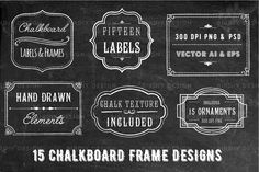 Ad: Chalkboard Frame and Label Overlays by BirDIY Design on This set of chalkboard labels includes 15 label designs and a chalkboard background! Use these beautiful elements to easily create unique, Chalkboard Labels, Framed Chalkboard, Label Design, Graphic Design, Chalkboard Texture, Adobe Illustrator Cs6, Chalkboard Background, Wine And Liquor, Free Graphics