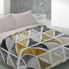 Fundas nórdicas para decorar tu dormitorio. La funda nórdica Mosaico se presenta con la almohada a juego del reverso de la funda. Funda nórdica moderna para ambientes juveniles. #fundasnordicasmodernas