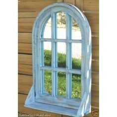 Miroir fen tre avec volets persiennes coloris blanc for Miroir lyrics
