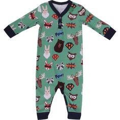 Fred's World organic cotton bodysuit - GREEN RESCUE TEAM ANIMALS