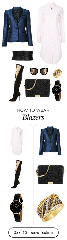 """Untitled #1657"" by rubysparks90 on Polyvore featuring Barbara Bui, Thom Browne, Alaïa, Christian Louboutin, MICHAEL Michael Kors, LE VIAN and Daniel Wellington"