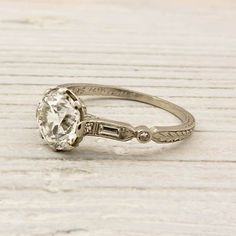 Engagement Rings & Wedding Rings : vintage engagement ring we ♥ this! Wedding Rings Vintage, Antique Engagement Rings, Wedding Bands, Gold Wedding, Solitaire Engagement, Diamond Rings, Diamond Cuts, Ruby Rings, Sapphire Diamond
