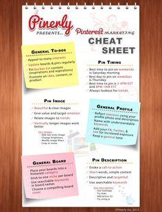 Pinterest marketing cheat sheet #Pinterest #Infographic